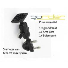 """GoRider GPS 1"""" stuur montage set compleet"""