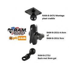RAM Mount Motorbasis GPS compleet