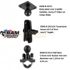 RAM Mount Rail Base GPS compleet