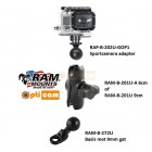 RAM Mount sportcamera montage compleet