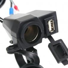Opticam 12V USB + Sigaretten oplader