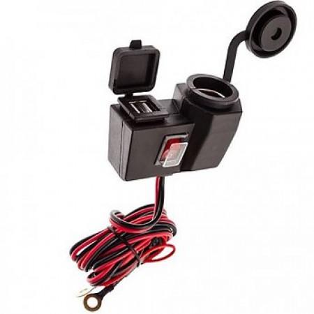Hedendaags Waterdichte USB en 12V oplader, voor voeding op de motor RY-31