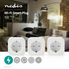 Nedis WIFIP130FWT3 Smart life @ home slimme stekker