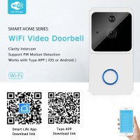 Smart life @ home draadloze WiFi video deurbel intercom